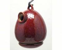 Egg Bird House Oxide Red-BYERSH41223