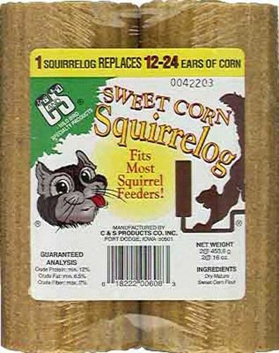 32 oz. Sweet Corn Squirrel Log +Freight