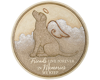 Dogs Live Forever Garden Stone-CHA10032