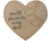 Paw Print on Heart Garden Stone-CHA10034