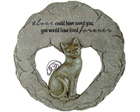 Cat Devoted Angel Stepping Stone-CHA10040
