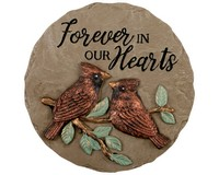 Our Hearts Mini Garden Stone-CHA10783
