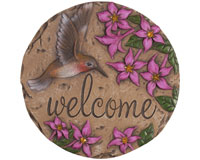 Decor Stepping Stone Welcome Hummingbird-CHA11118