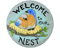 Decor Stepping Stone Welcome to Nest-CHA11148