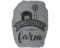 Welcome to the Farm Garden Stone-CHA12816