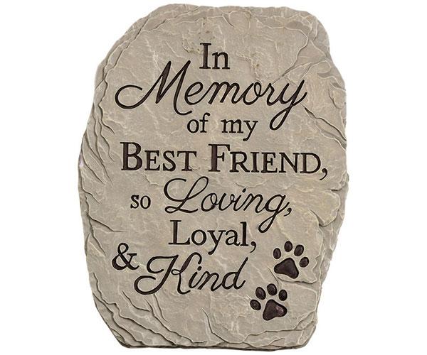 Loyal & Kind Pet Garden Stone