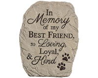 Loyal & Kind Pet Garden Stone-CHA13034