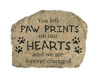 Paw Prints Pet Garden Stone-CHA13051