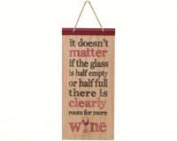 Half Full Glass Sign-CHA17710