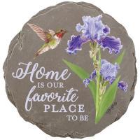 Iris and Hummingbird Garden Stone-CHA43426