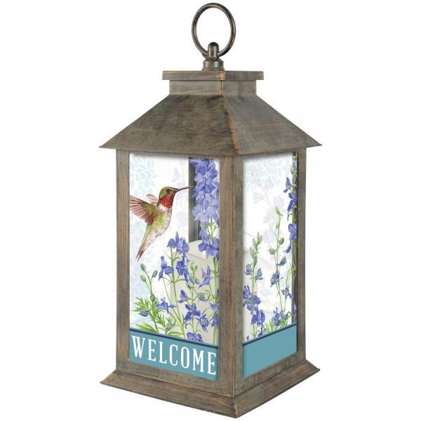 Botanical Larkspur Lantern