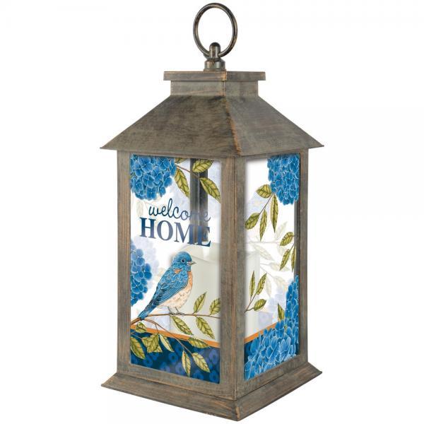 Hydrangea Bluebird Lantern