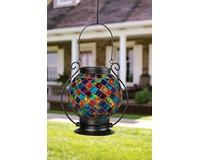 Solar Mosaic Lantern Multi Block-CHA65828
