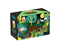 In the Forest Glow in the Dark Puzzle 100 pcs-CB9780735354029
