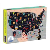 Cocktail Map Of The USA Puzzle 1000 Pieces-CB9780735357860
