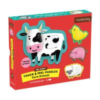 Farm  Animals Touch & Feel Puzzle-CB9780735363755