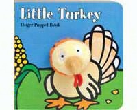Little Turkey Finger Puppet Book-CB9780811875134