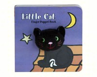 Little Black Cat Finger Puppet Book-CB9781452129167