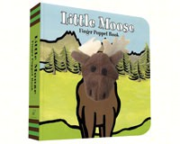 Little Moose Finger Puppet Book-CB9781452142319