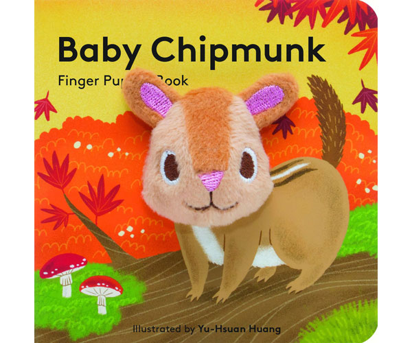 Baby Chipmunk Finger Puppet Book