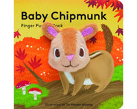 Baby Chipmunk Finger Puppet Book-CB9781452156125