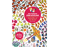 Butterflies of World My Nature Sticker Book by Olivia Cosneau-CB9781616894658