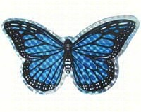 Small Blue Butterfly Door Screen Saver-CC52067