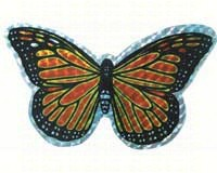 Small Orange Butterfly Door Screen Saver-CC52068