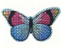 Small Multi Colored Butterfly Door Screen Saver-CC52069