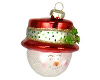 Top Hat Snowman Red Ornament-COBANEA095