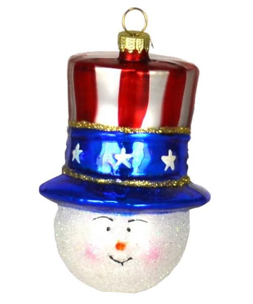 Patriotic Snowman Ornament (COBANEA133)