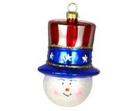 Patriotic Snowman Ornament COBANEA133