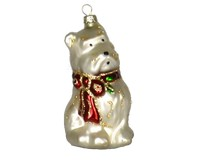Holly Berry Westie Ornament-COBANEA239