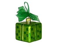 Xmas Surprise Sq Shamrocks Ornament-COBANEA282