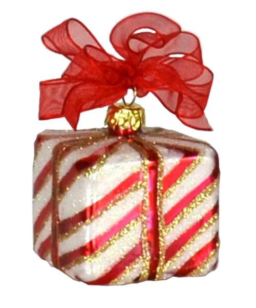 Xmas Surprise Sq Stripes Ornament (COBANEA283)