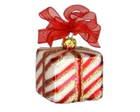 Xmas Surprise Sq Stripes Ornament-COBANEA283