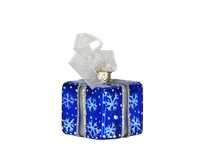 Xmas Surprise Sq Snowflakes Ornament COBANEA284