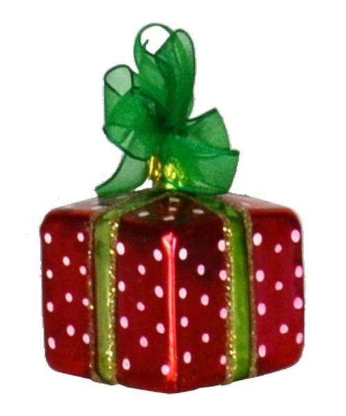 Xmas Surprise Sq Polka dots Ornament (COBANEA285)