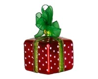 Xmas Surprise Sq Polka dots Ornament-COBANEA285