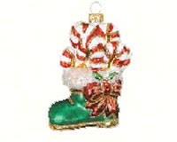 Candy Cane Boot Ornament-COBANEA335