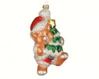 Kitty's Christmas Gold Ornament COBANEB109