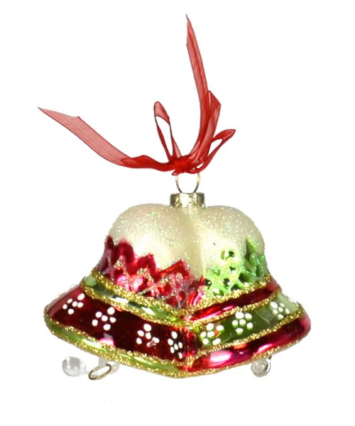 Merry Bells Red and Green Ornament (COBANEB211)