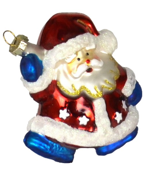 Red White and Blue Santa Ornament (COBANEB231)