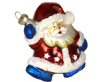 Red White and Blue Santa Ornament-COBANEB231