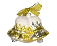 Merry Bells Gold Ornament-COBANEB253