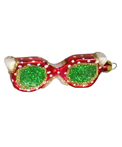 Sunglasses Red with White Polka dot Ornament (COBANEB316)