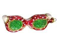 Sunglasses Red with White Polka dot Ornament-COBANEB316
