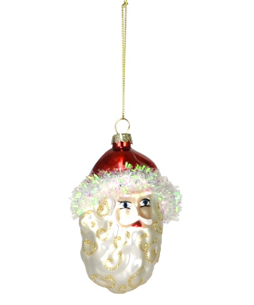 Holly Berry Santa Ornament (COBANEC201)