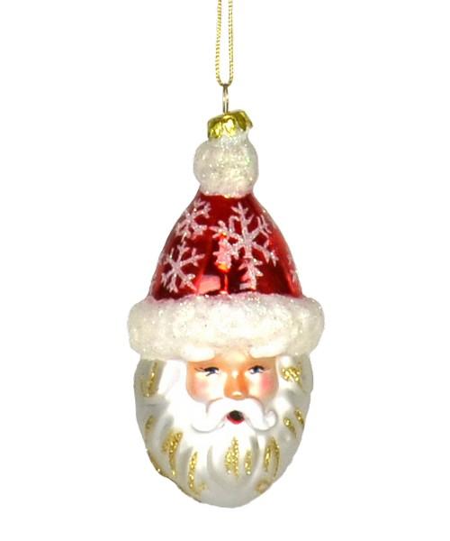 Snowflake Santa Red Ornament (COBANEC269)