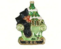 Scotties Sleigh Ride Ornament COBANEC272
